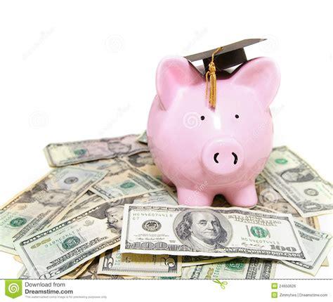 Piggy Bank With Graduation Cap Stock Photo   Image of ...