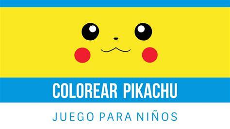 Pikachu   Pokemon | Juego de Colorear Online Gratis para ...