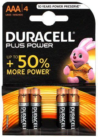 PILA DURACELL PLUS POWER MN2400 AAA BLISTER 4 | PILAS ...