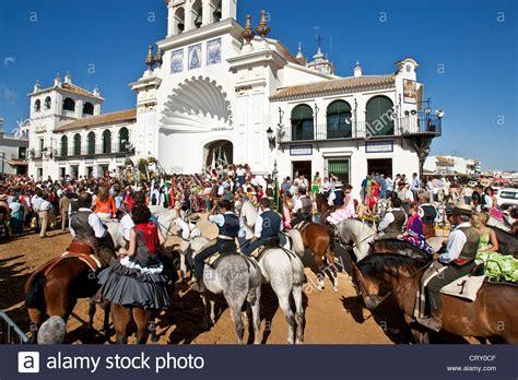 Pilgrims, El Rocio Festival, Huelva Province, Andalucia ...