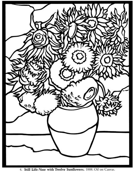 Pin by Jen Hayter on Coloring   flowers   Van gogh ...