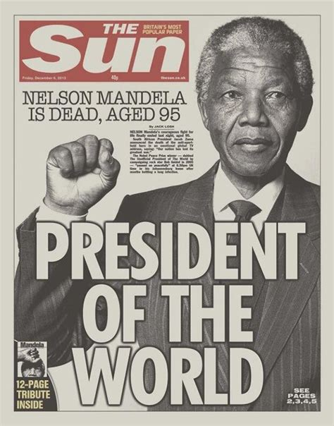Pin by Underlined2020 on Newspapers | Nelson mandela ...