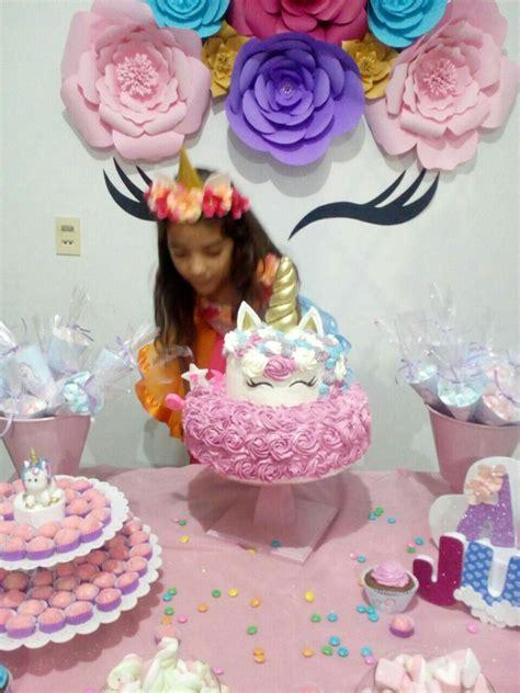 Pin de Kareen An en Aniversário | Fiesta de unicornios ...