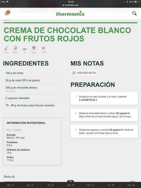 Pin de María Claudia Vargas en Thermomix | Crema de ...