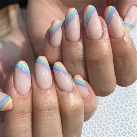Pin de Valu Galiano en Nails   Uñas de gel, Uñas arcoiris ...