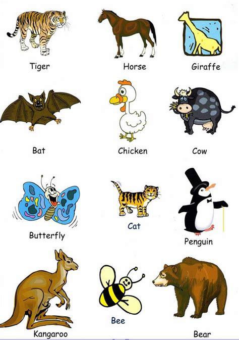 Pin di Animales en inglés