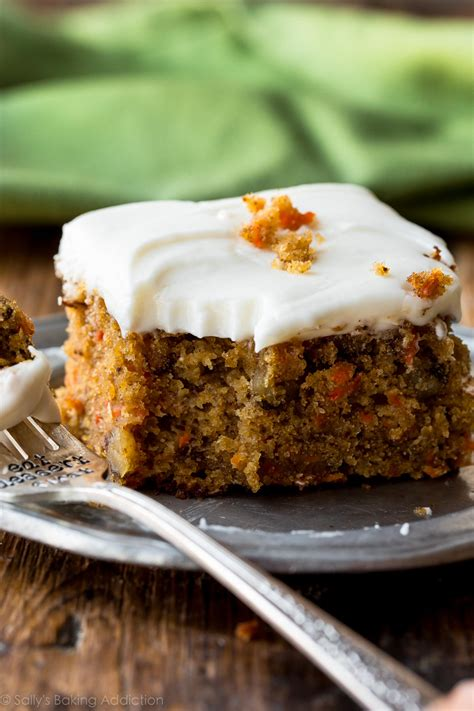 Pineapple Carrot Cake with Cream Cheese Frosting   Sallys ...