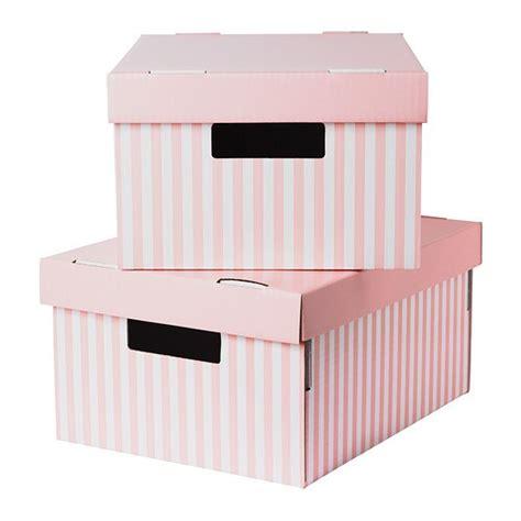 PINGLA Caja con tapa   rosa, 28x37x18 cm   IKEA
