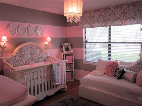 Pink and Gray for Baby J   Project Nursery