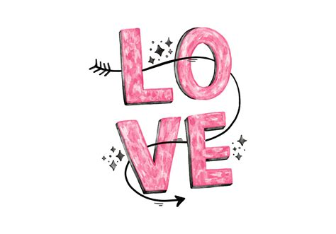 Pink Love Lettering   Download Free Vectors, Clipart ...