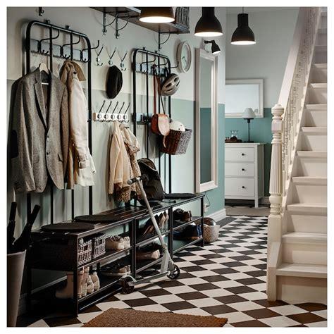 PINNIG Garderobenständer mit Bank   schwarz   IKEA