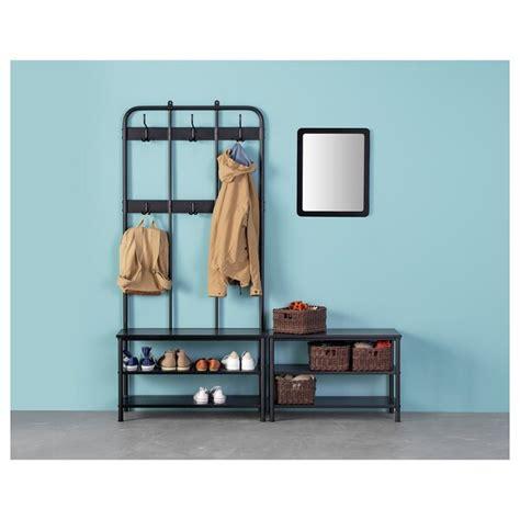 PINNIG Perchero+banco zapatero, negro   IKEA
