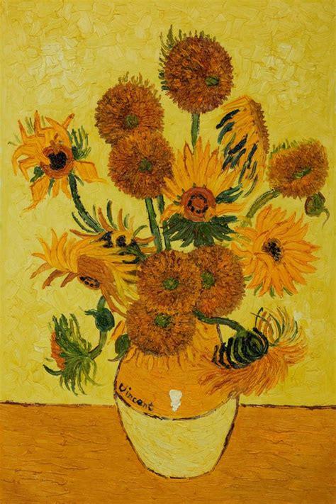 Pintado a mano Vincent Van Gogh flor pintura al óleo ...