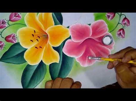 Pintando flor Azucena color rosa y magenta   YouTube