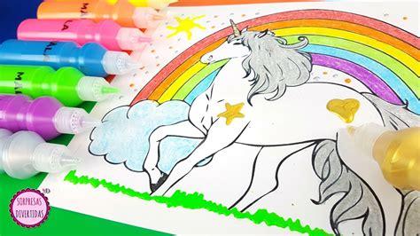Pintando un dibujo de  UNICORNIO  Dacs, colores y ...