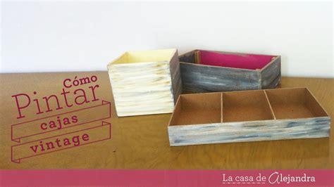 Pintar cajas vintage   DIY Paint boxes Vintage style   YouTube