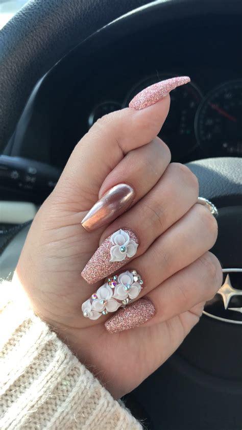 pinterest: @evellynlouyse   Manicura de uñas, Uñas con piedras