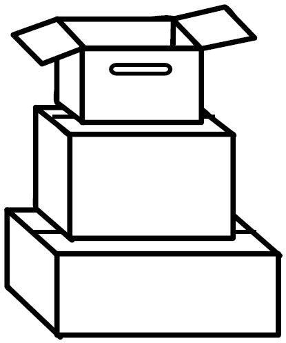 Pinto Dibujos: Cajas para colorear