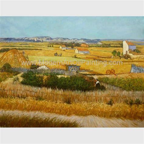 Pintura al óleo amarilla de la cosecha de las pinturas al ...
