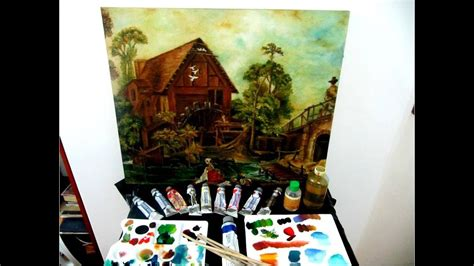 Pintura al óleo como mezclar colores materiales y matizes ...