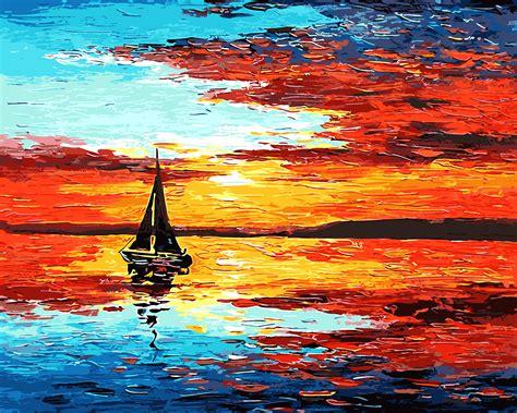 Pintura al óleo digital diy by números paisaje decoración ...