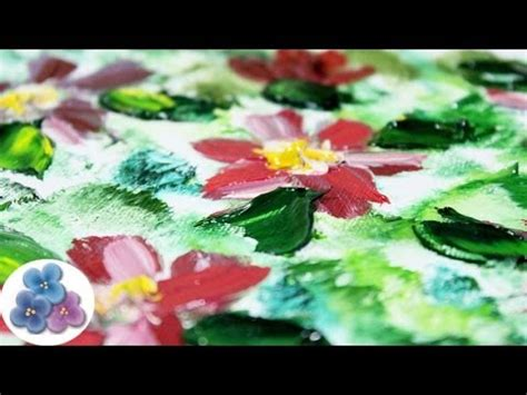 Pintura al Oleo Flores Modernas Oil Painting *How to oil ...