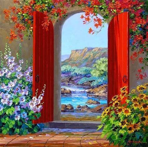 Pintura de Flores al Óleo con Espátula, Mikki Senkarik ...