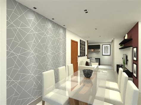 Pintura de parede geométrica e elegante.   Pintura de ...