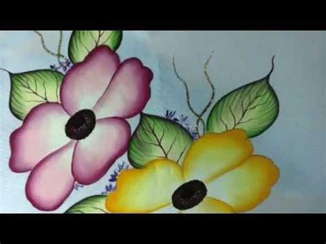 Pintura en tela camino de flores # 3 con cony   YouTube
