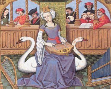 Pintura medieval   mujer y cisnes   FD Edad Media   Arte ...