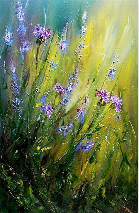 pintura moderna al oleo flores | Flores abstractas ...