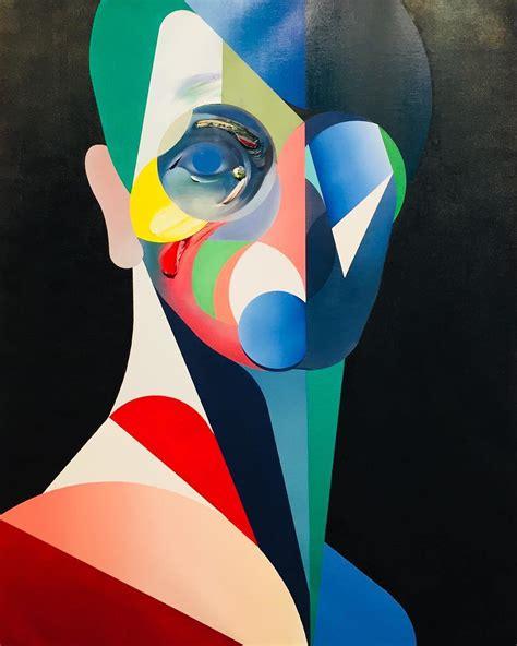 Pinturas cubistas de Ryan Hewett   Divagancias