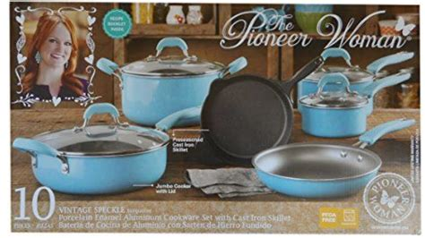 Pioneer Woman 10 Piece Pots and Pan Set   YouTube