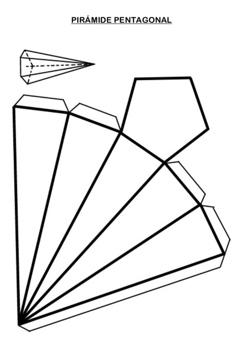 PIRÁMIDE PENTAGONAL | Cuerpos geometricos para armar ...