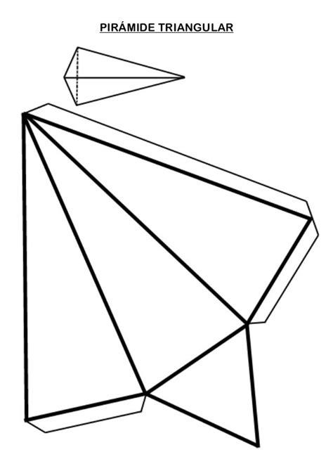 PIRÁMIDE TRIANGULAR | Cuerpos geometricos para armar, Como ...
