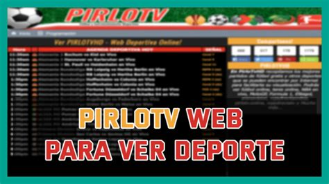 Pirlo TV Larga Lista de Partidos de Futbol GRATUITOS↓