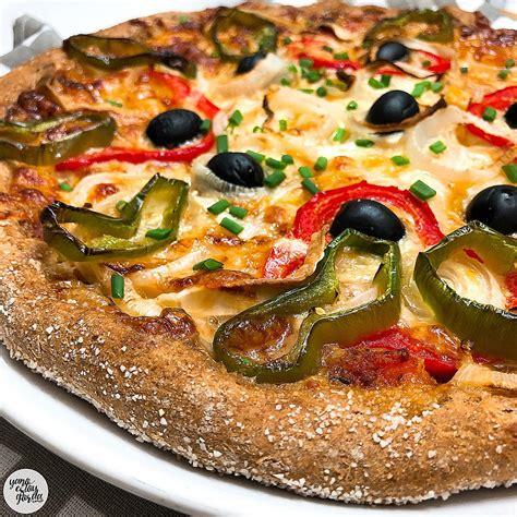 Pizza de espelta integral con pimientos | Recetas, Comida ...
