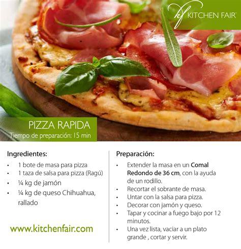 Pizza rápida, esta receta es fácil, practica y rica ...