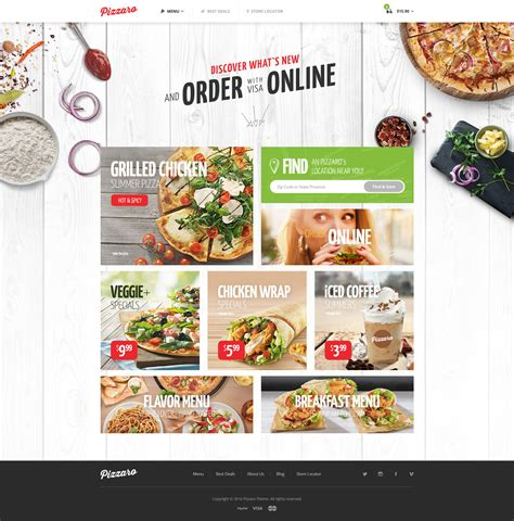 Pizzaro   Fast Food & Restaurant WooCommerce Theme by ...