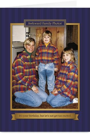 Plaid Baby Funny Birthday Card | Funny family photos ...