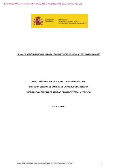 Plan de Acción Nacional para el Uso Sostenible de ...