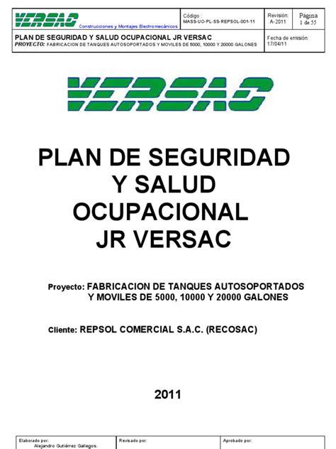 Plan de Seguridad y Salud Ocupacional | La seguridad ...