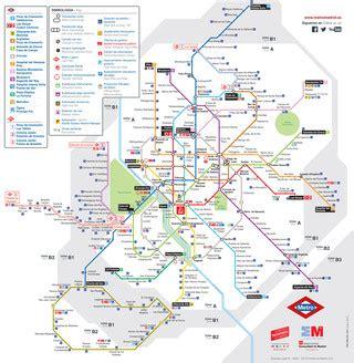 Plan et carte du métro de Madrid : stations et lignes