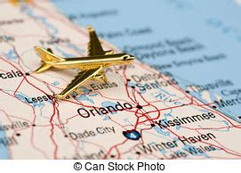 Plane over central florida. map is copyright free off a ...