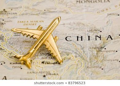 Plane Over China,Map is Copyright Free Off a Government ...