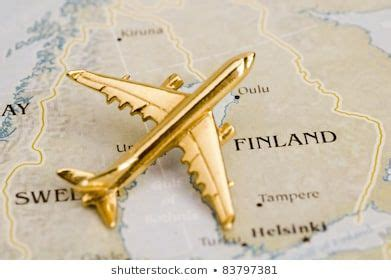 Plane Over Finland and Sweden, Map is Copyright Free Off a ...