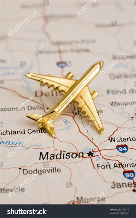 Plane Over Wisconsin, Map is Copyright Free Off a ...