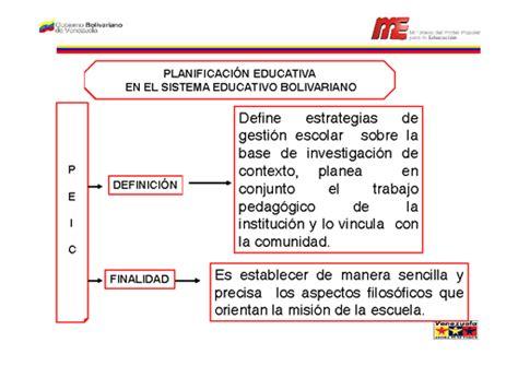 Planificación educativa en el sistema educativo ...