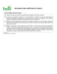 Planilla de Solicitud de Inscripción en el Registro Consular
