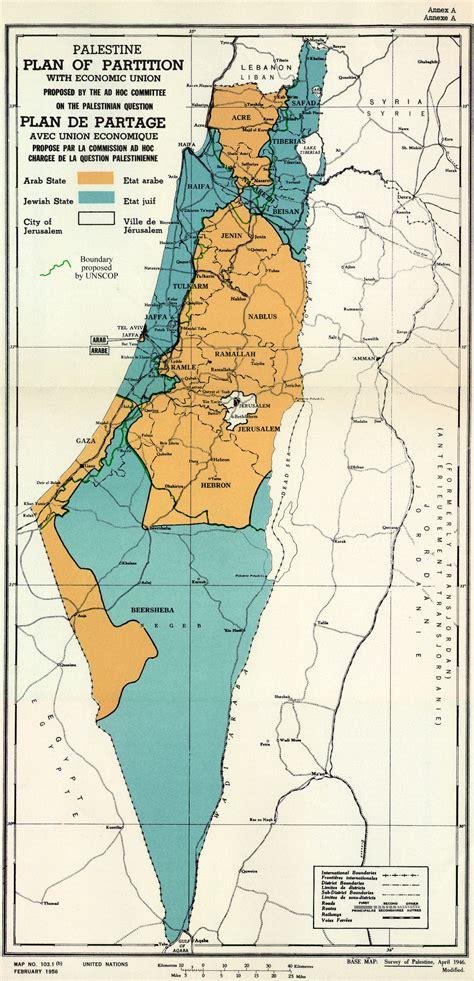 Plano da ONU para a partilha da Palestina de 1947 ...
